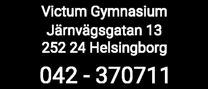 Kontaktuppgifter till Victum Gymnasium